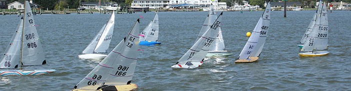 racing model yachts on a windy day